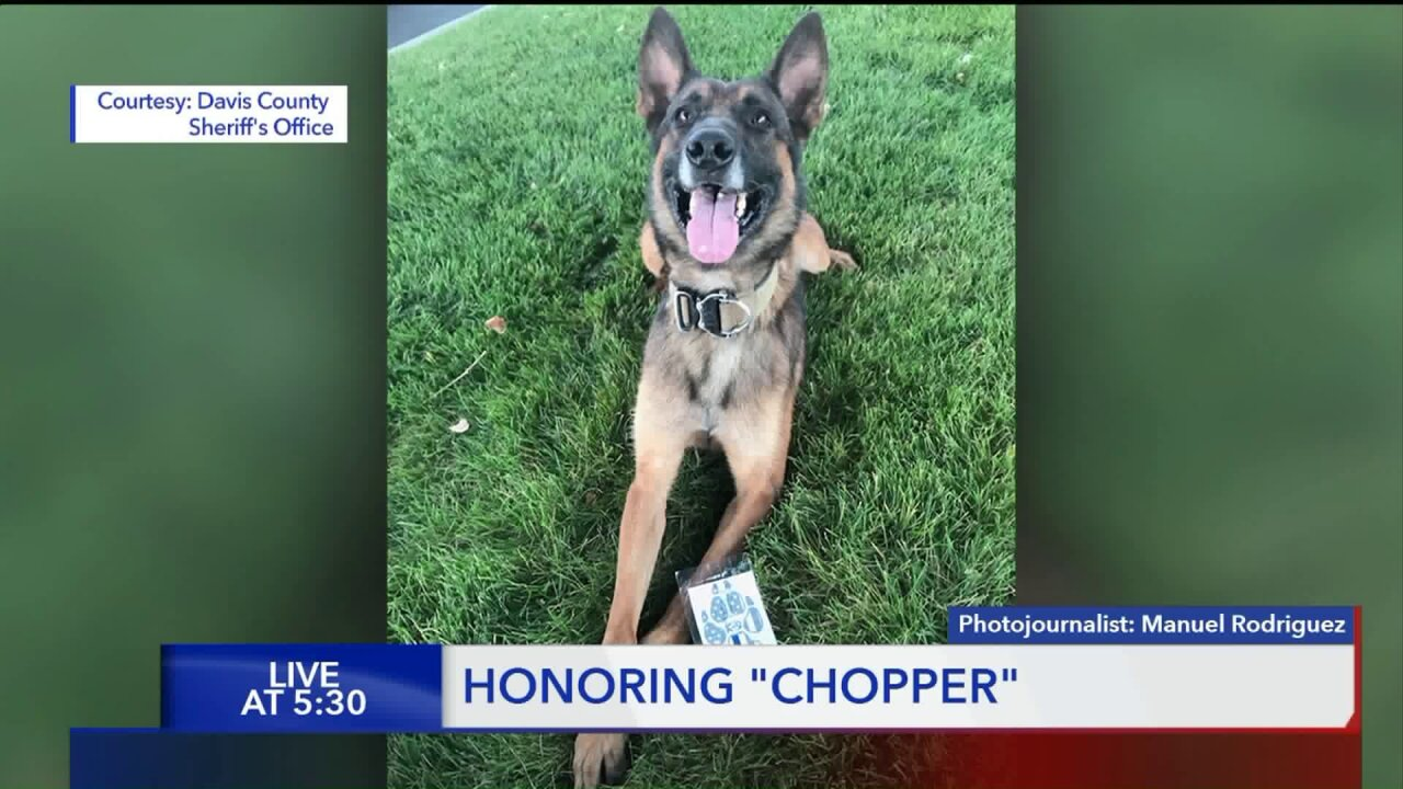 Davis County mourns the loss and celebrates the life of K9 'Chopper'