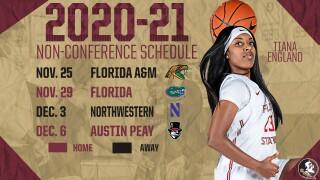 FSU WOMEN'S BASKETBALL 2020-21 NON-CONFERENCE SCHEDULE