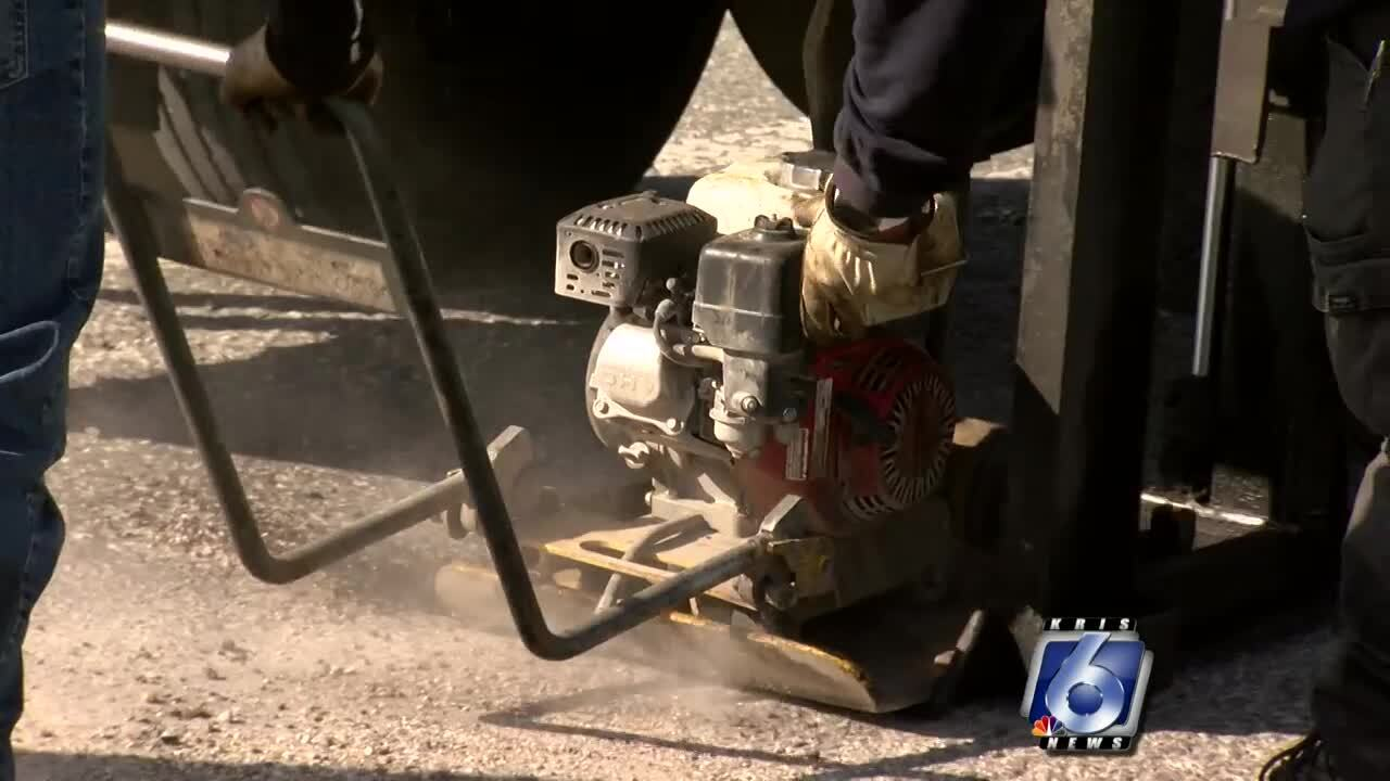 Pothole patching continuing across the city