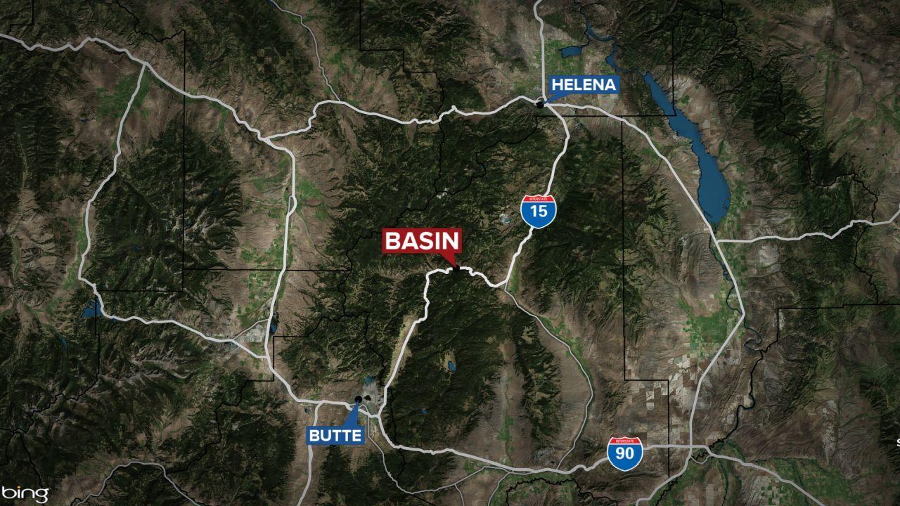 Basin Montana map