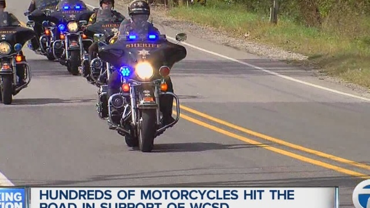 Motorcycles hit the road in support of WCSD