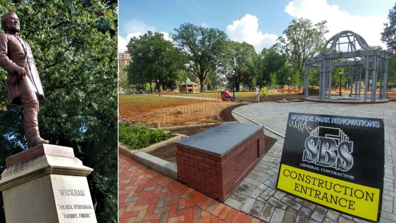 As Monroe Park reopens in Richmond, fate of Confederate monuments remains uncertain