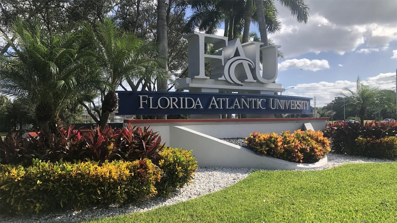 Florida Atlantic University sign