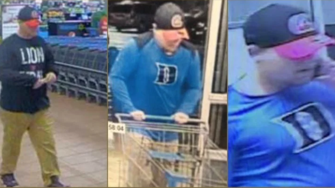 Deputies in Virginia seek serial Walmart thief