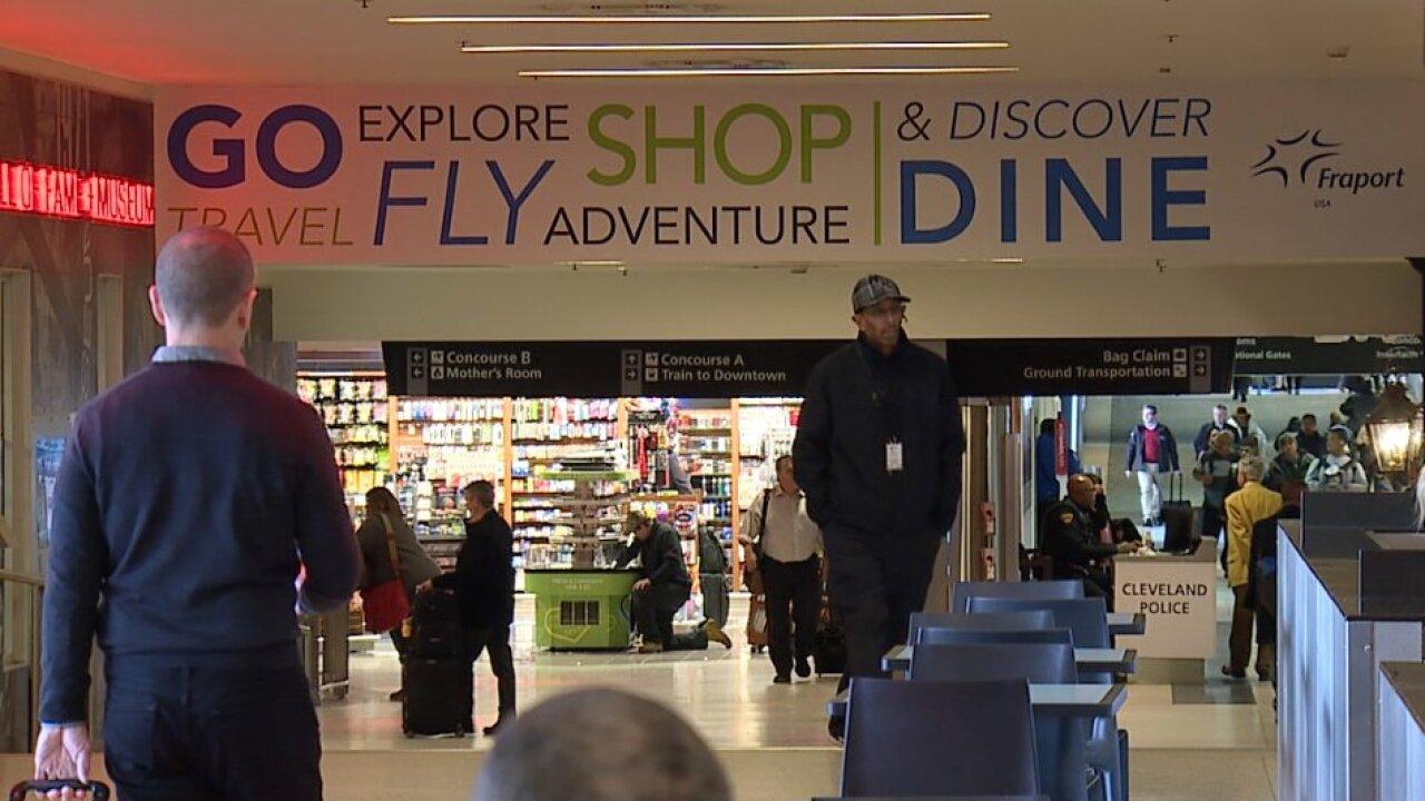 Cleveland Hopkins International Airport.