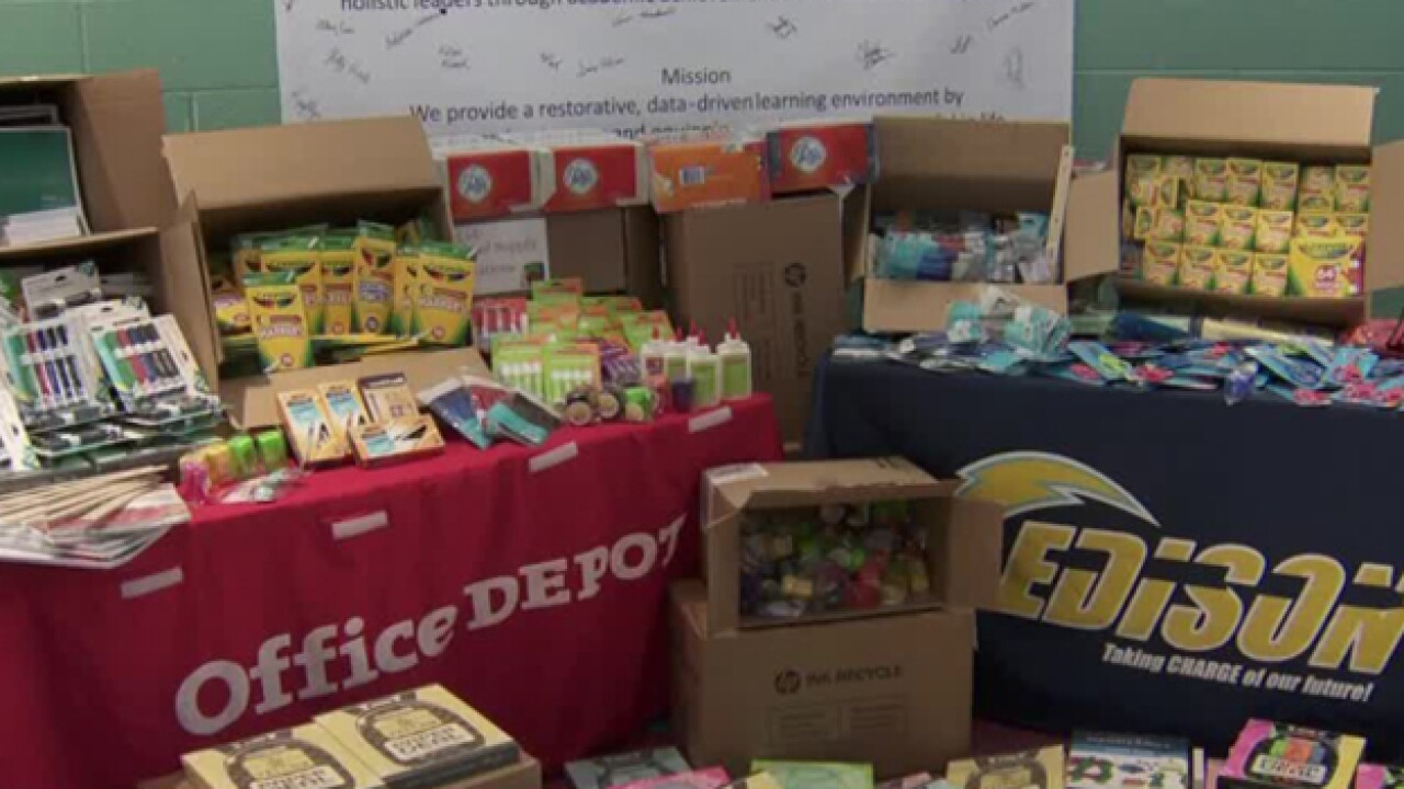 Thomas Edison Elementary Receives Thousands In School Supplies