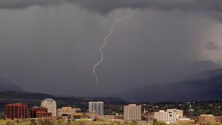 Larry Marr lightning downtown Colorado Springs