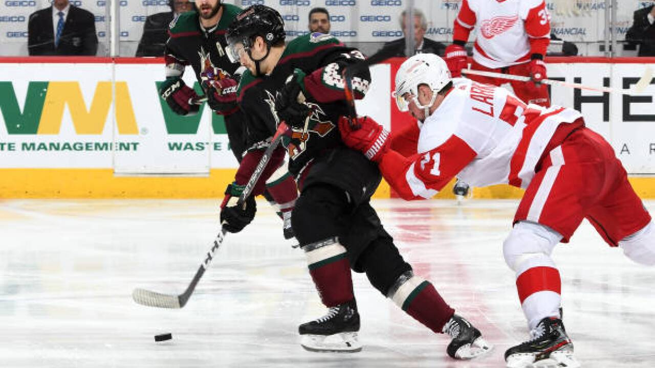 Ekman-Larsson, Hinostroza lead Coyotes over Red Wings for 6th straight win