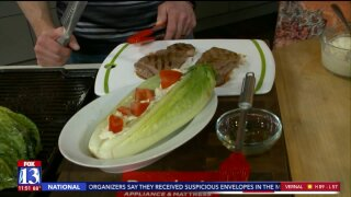 Grilled Romaine Caesar SteakSalad