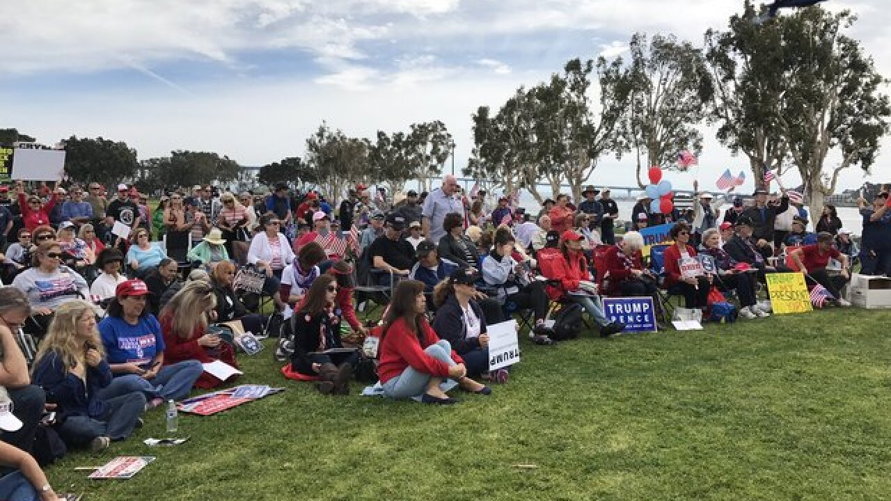 Trump supporters march on San Diego