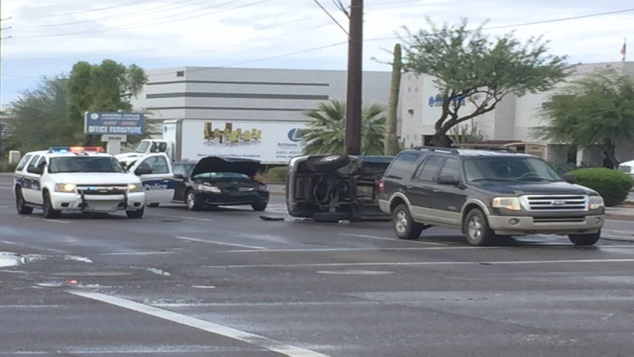 Children sent to hospital after PHX car crash