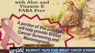 Balmshot helps fund breast cancer screenings