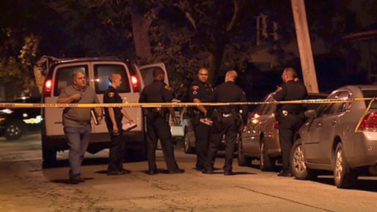 Man killed during gathering for murder victim