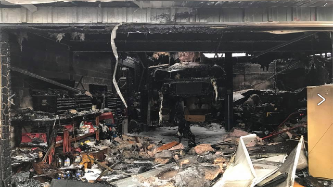 HAZMAT Crews Called In for Auto Garage Fire