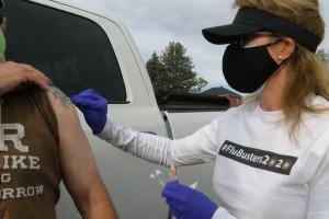Flu shot at Montana VA