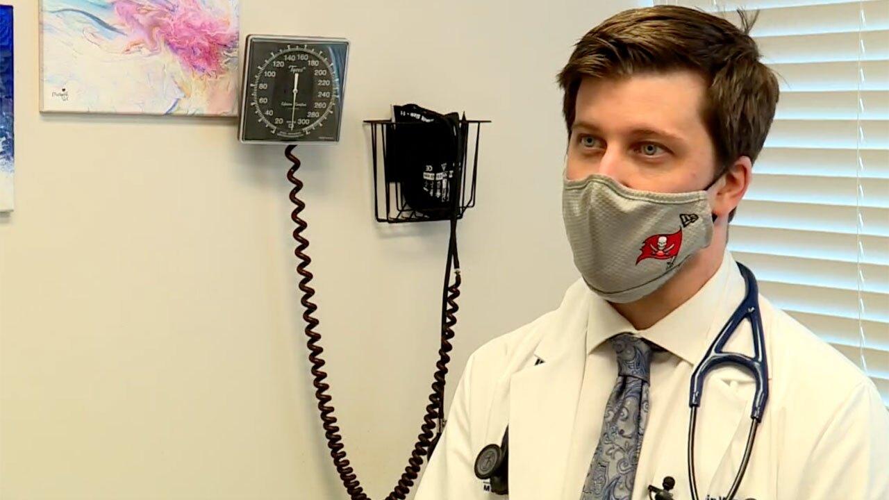 Dr. Justin Williams at Wellington Regional Medical Center speaks on the Delta variant