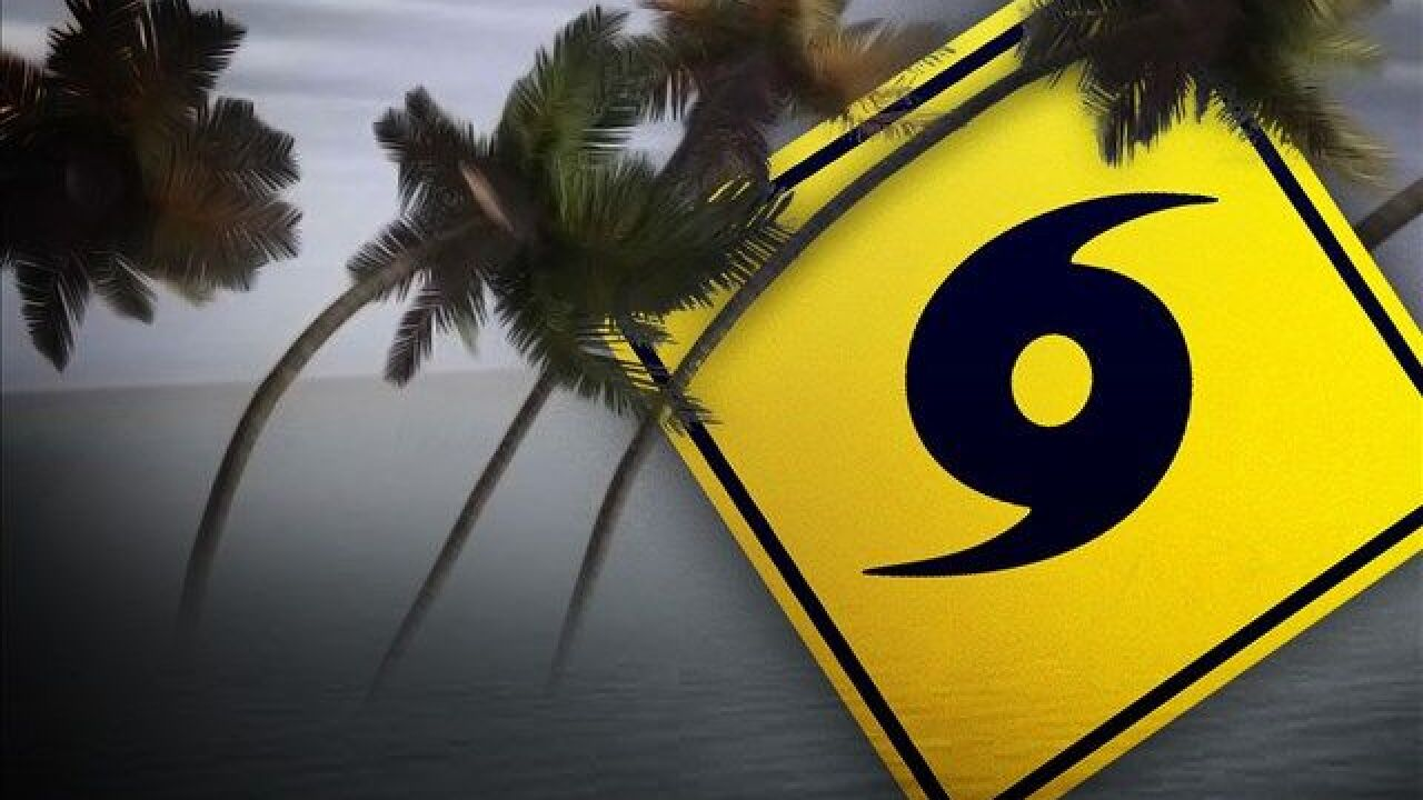 hurricane forecast (caution sign)