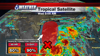 6WEATHER Tropical Satellite Wednesday AM