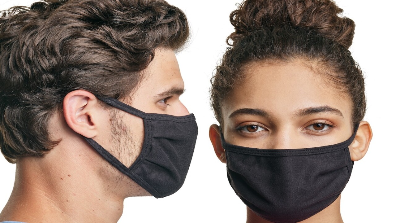 5-packs of Hanes face masks are now just $7.50 each at Walmart