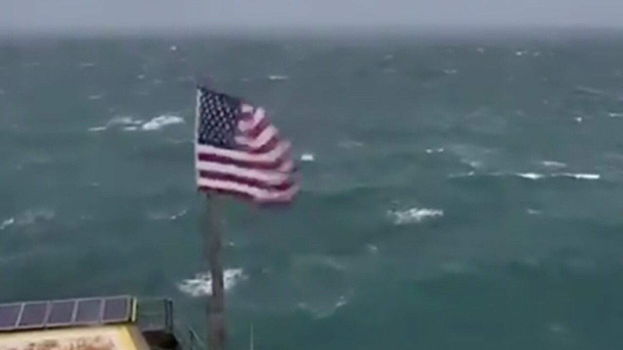 LIVE: Watch Hurricane Florence from tower miles off North Carolina coast