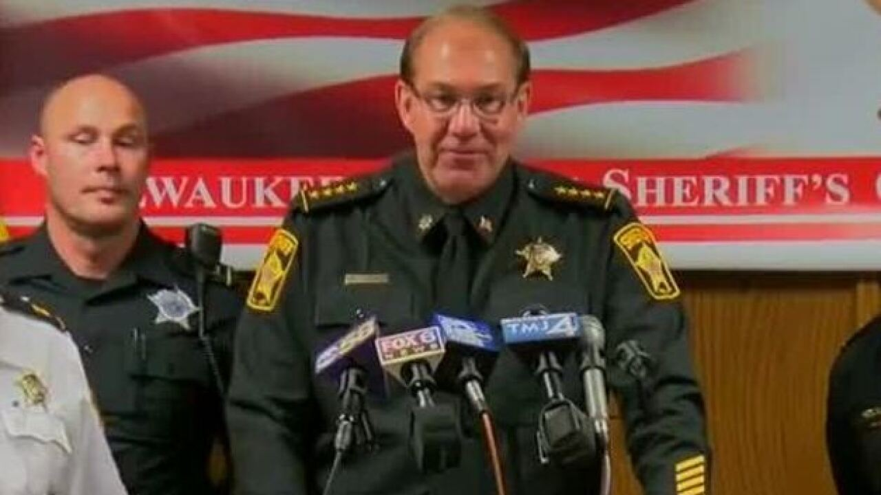 Acting Milwaukee County Sheriff Richard Schmidt announces candidacy