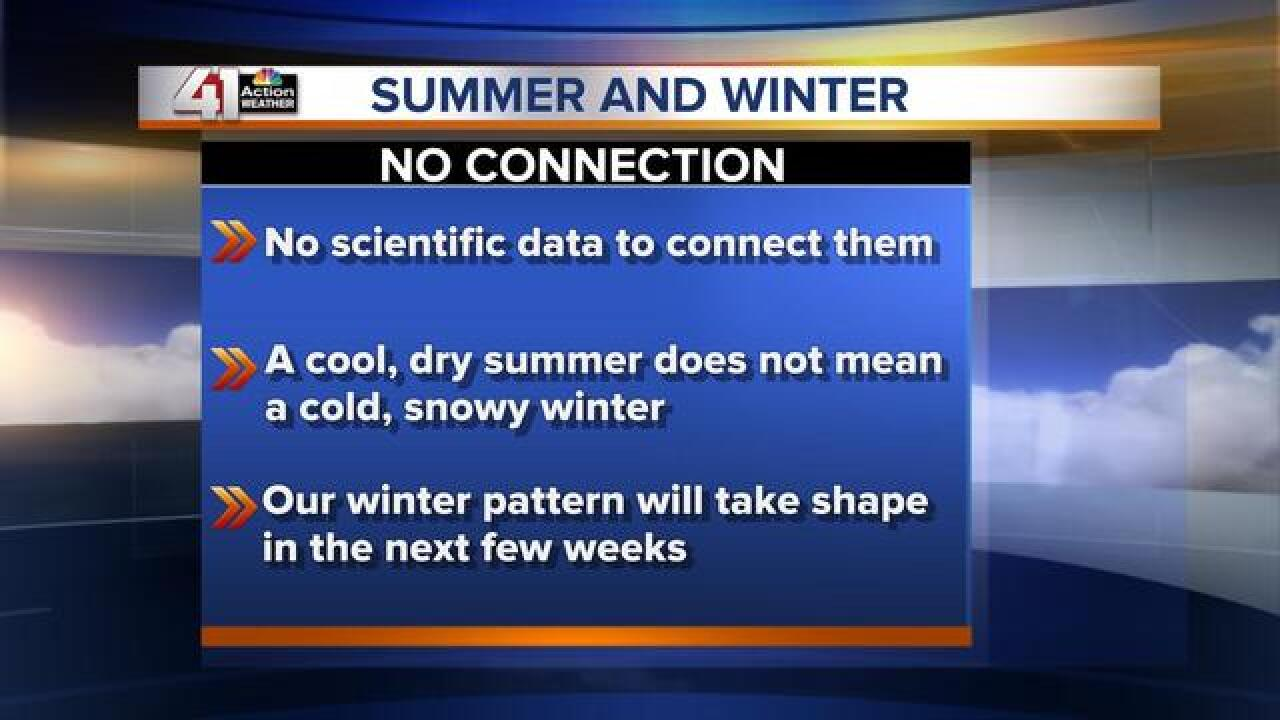 Does a cool, wet summer mean a cold, snowy winter is headed our way?