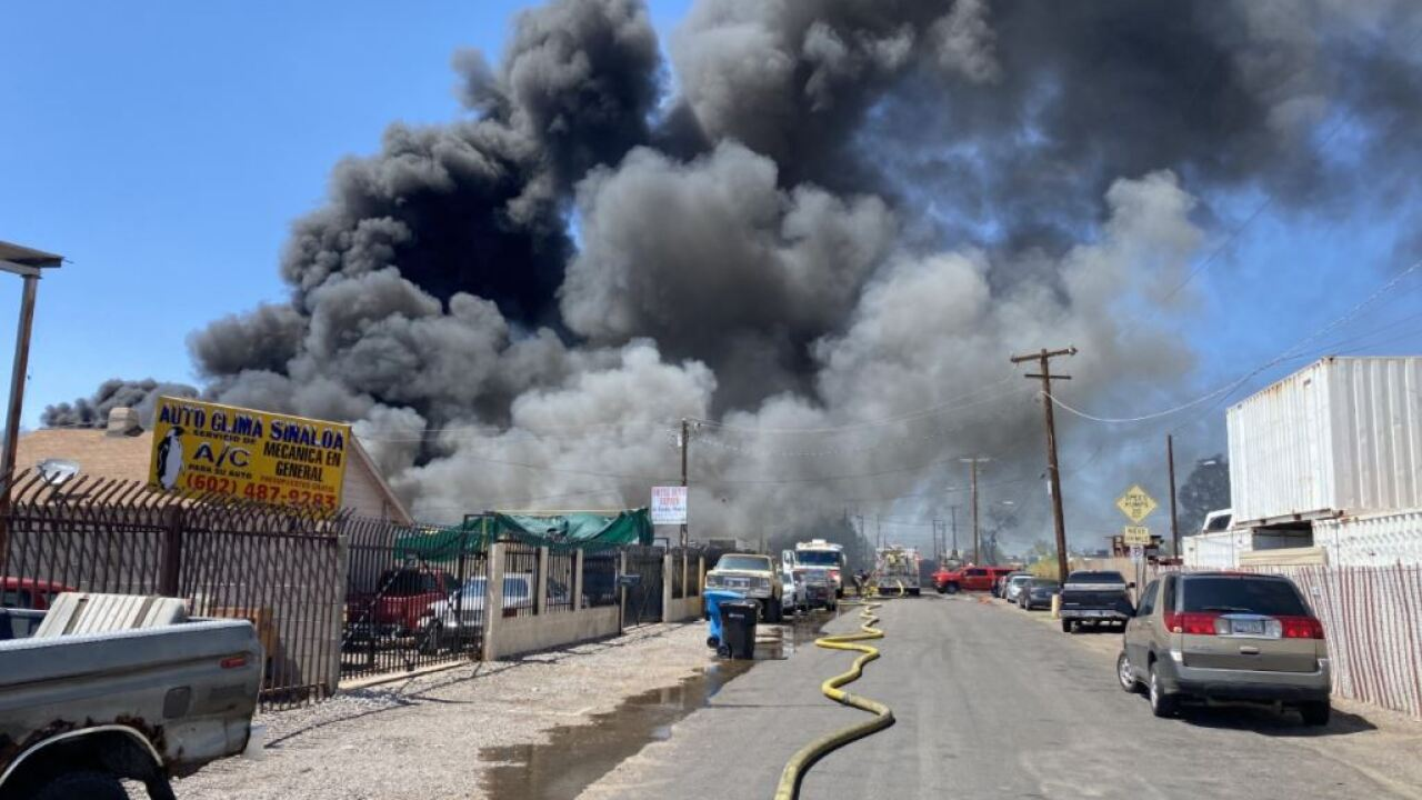 Recycling Fire - 29th Ave and Buckeye