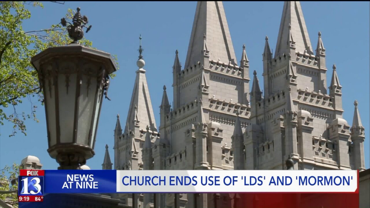 Visitors at Temple Square weigh in on decision by the Church of Jesus Christ of Latter-day Saints to drop 'LDS' and 'Mormon'