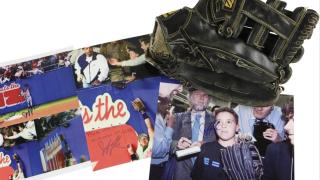 Jeffrey Maier Game Used Glove