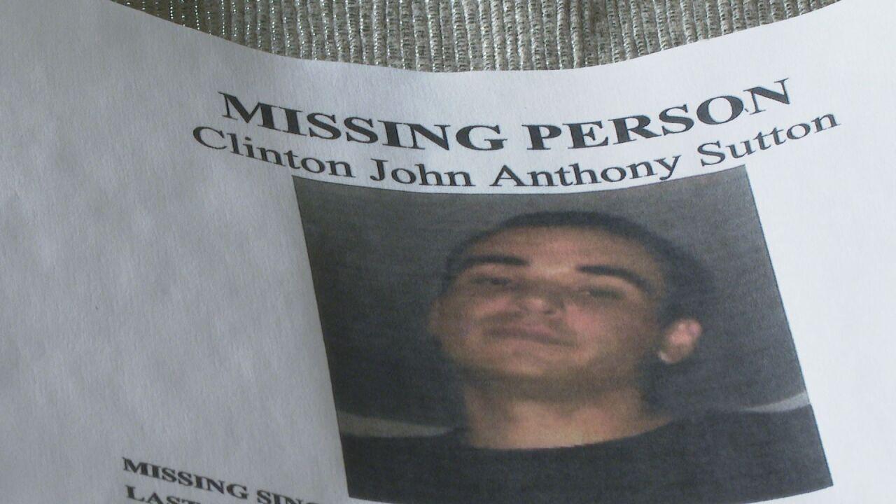 Clinton Sutton missing poster