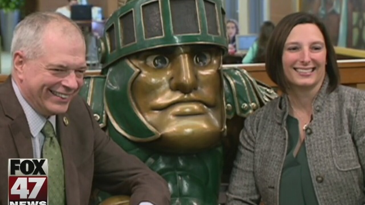 New Sparty statue at MSU, East Lansing