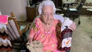 100-year-old using crocheting hobby to help area preschool