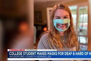 College student makes masks for the deaf and hard of hearing