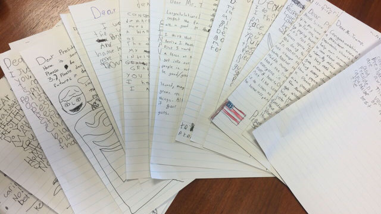 READ: 3rd- and 4th-graders write to Trump
