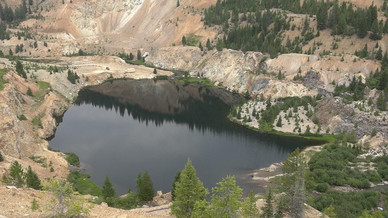 The Yellow Pine Pit at the Stibnite Mine
