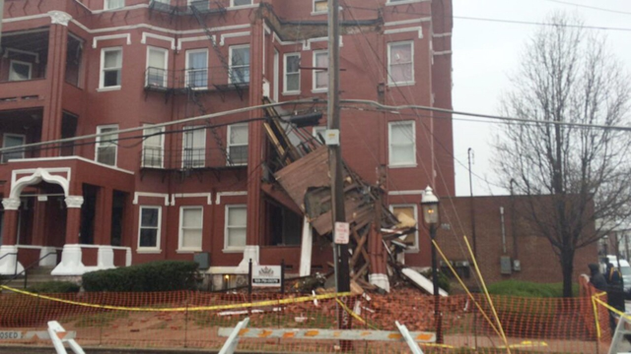 Fire department: No one hurt in balcony collapse