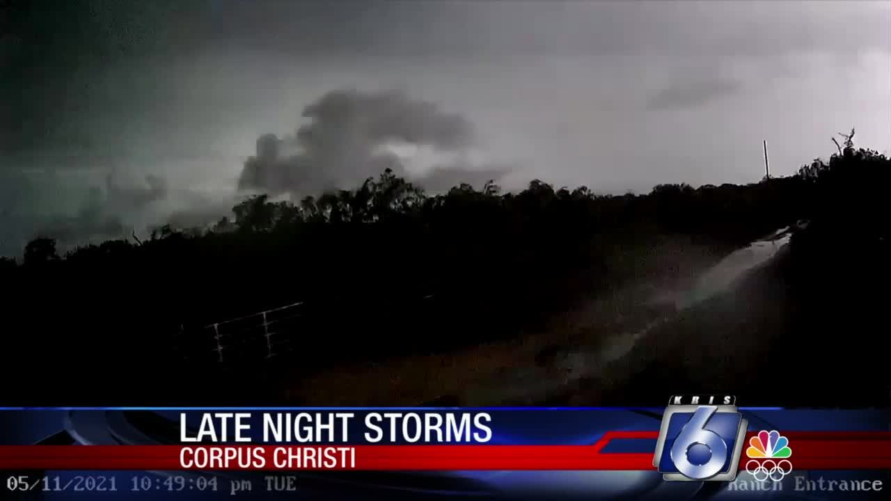 The skies across the Coastal Bend were lit up by last night's storms across the area