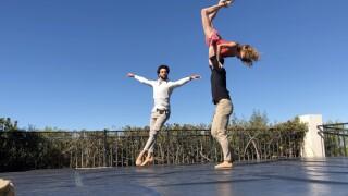 Backyard ballet dancers