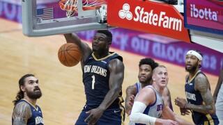 Zion Williamson Pistons Pelicans Basketball