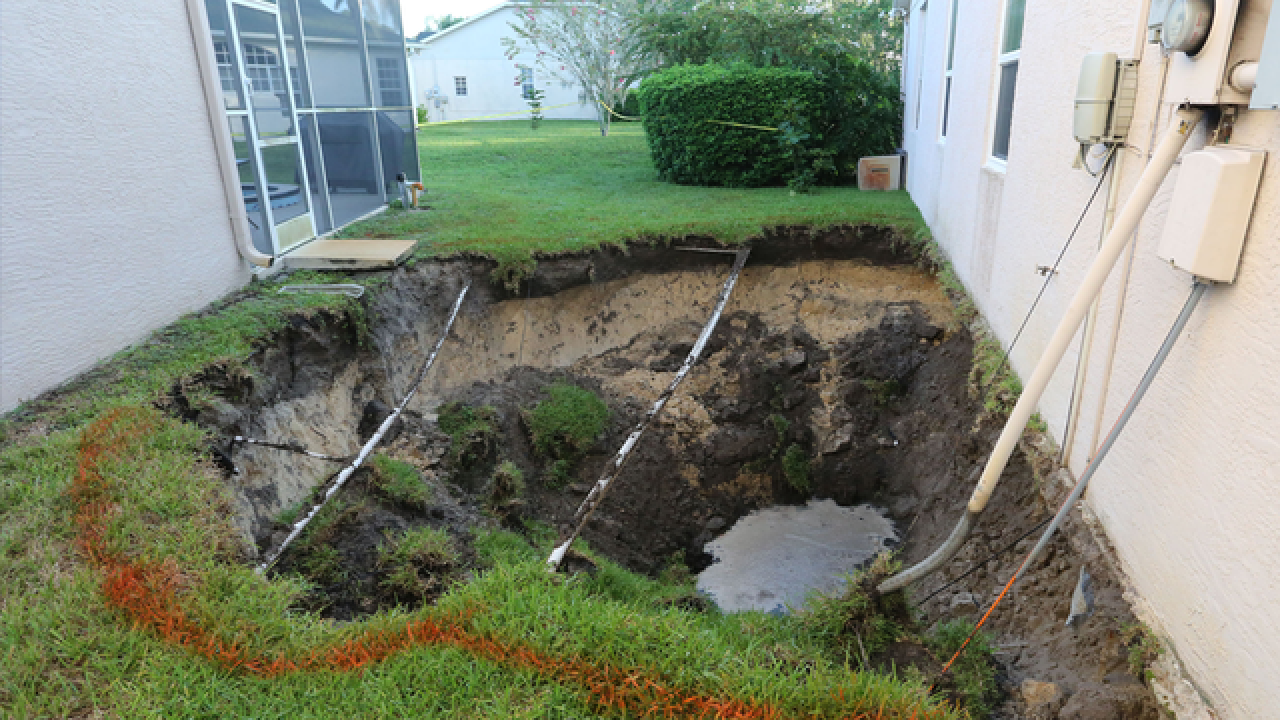 Large hole opens in Pasco Co. neighborhood