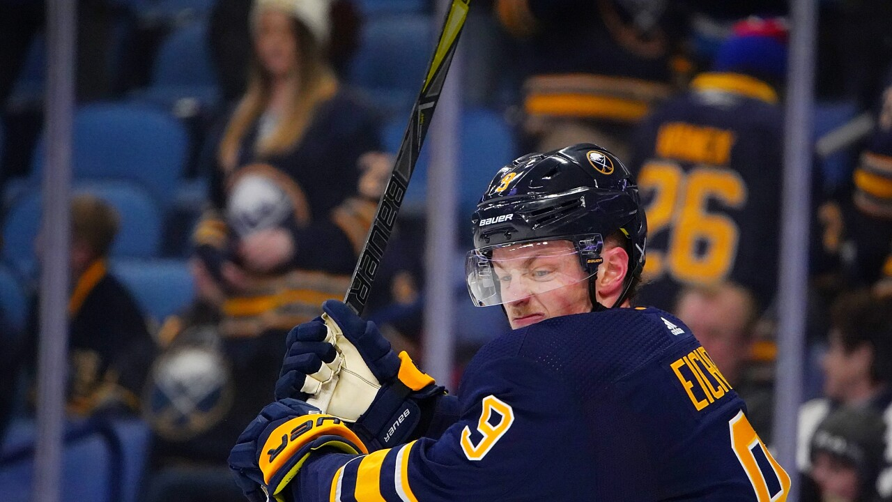 Jack Eichel visibly frustrated after a tough loss to the Winnipeg Jets