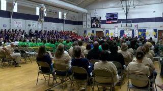 Evangeline Parish returns to school
