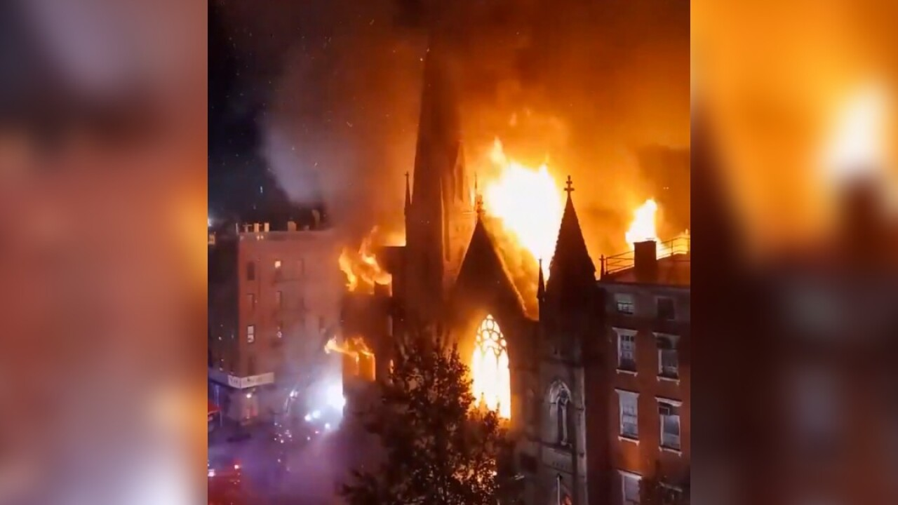 Massive Fire Destroys Historic New York Church That Houses Iconic Liberty Bell