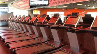 Treadmills in the Orangetheory Fitness studio in Bakersfield.