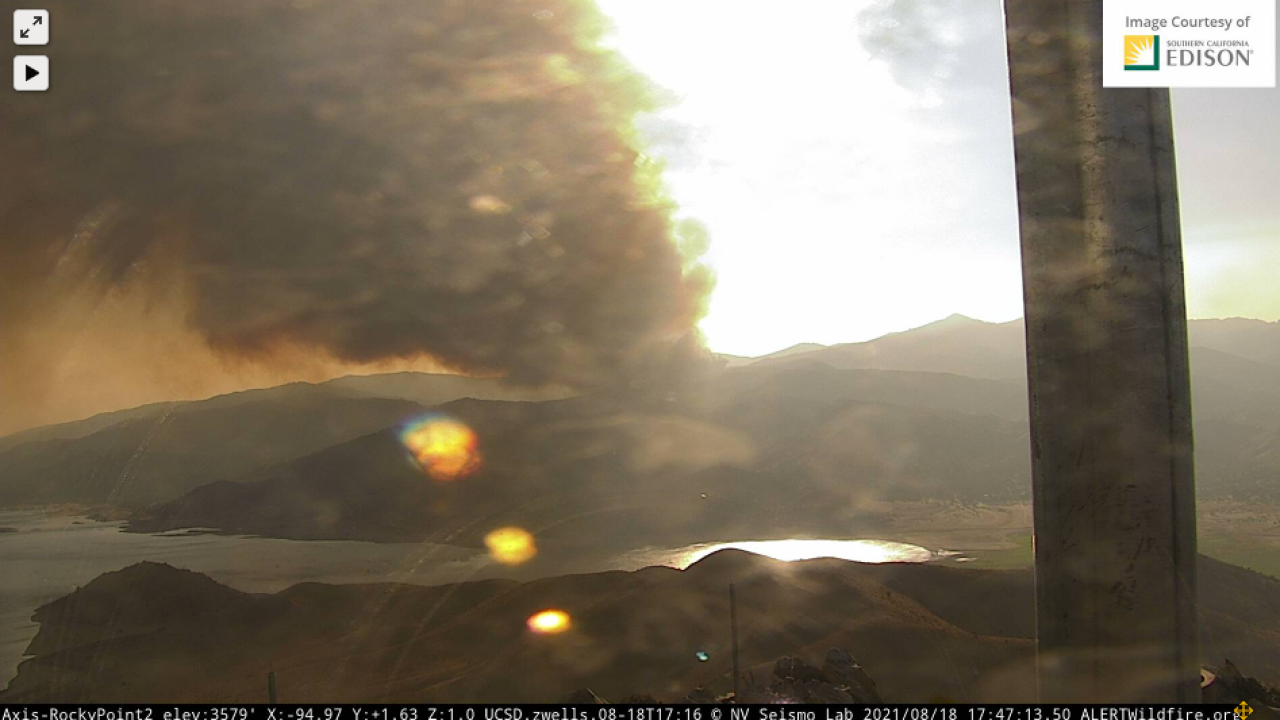 French Fire; Lake Isabella. August 18, 2021