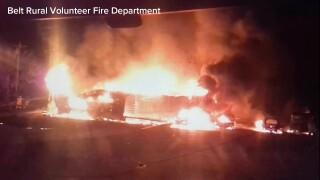 Family escapes as fire rips through their home in Cascade County