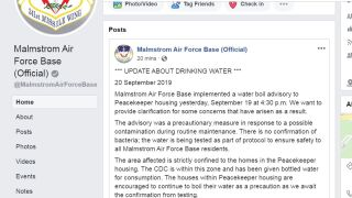 Malmstrom provides an update on the base water situation