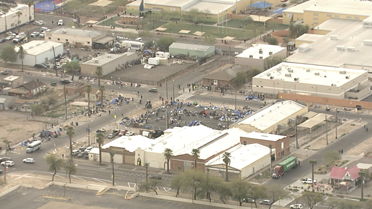 Phoenix homeless camps