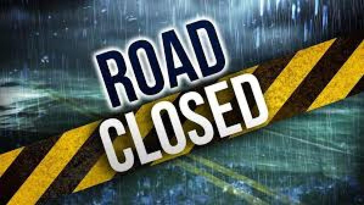 Road closures due to flooding