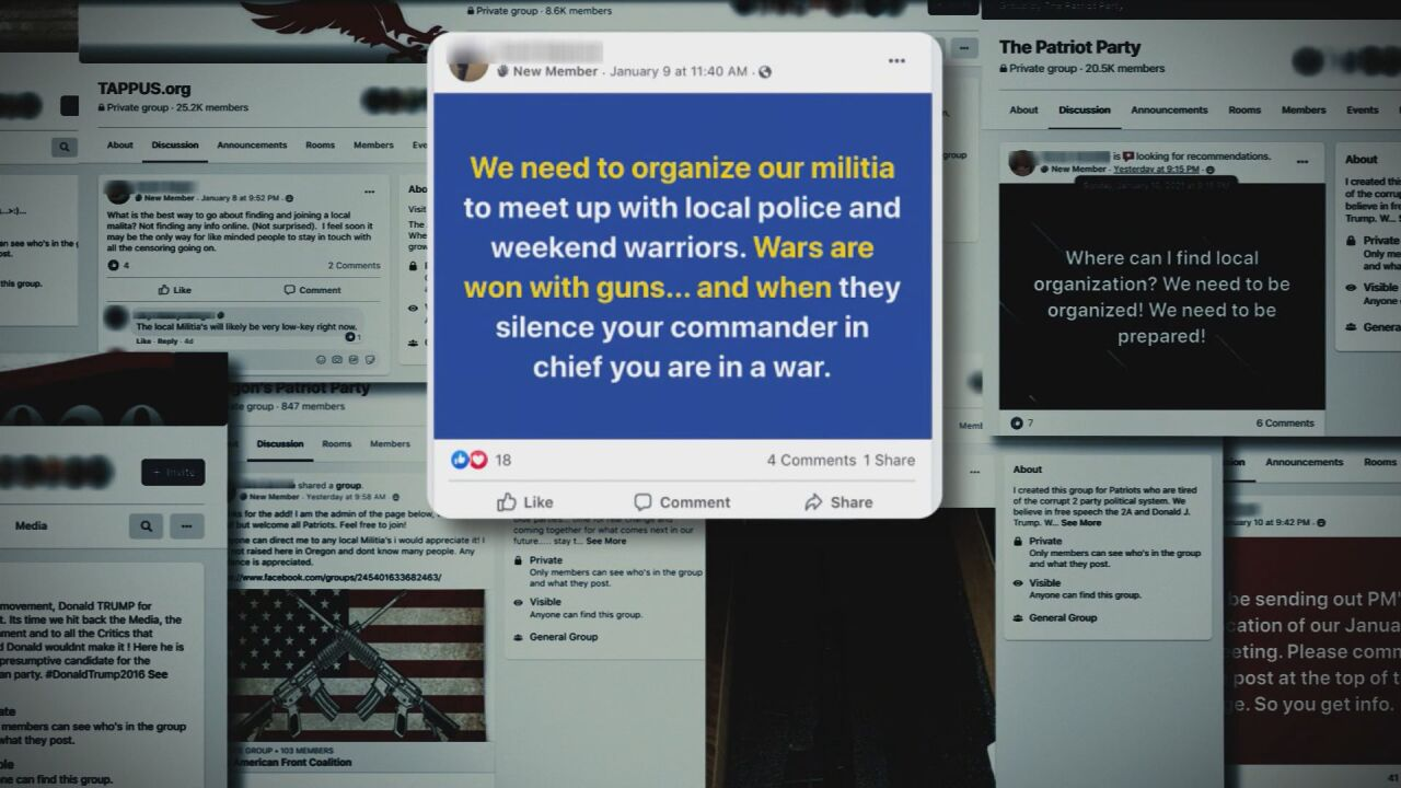 Social media and misinformation a major reason militia groups keep growing, expert says